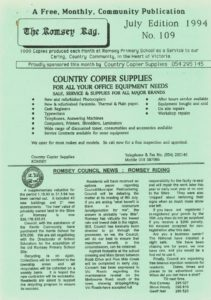 thumbnail of Romsey Rag No 109 July 1994