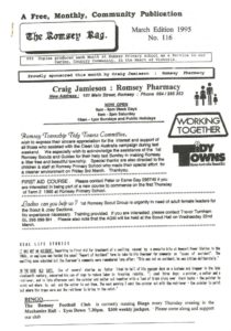 thumbnail of Romsey Rag No 116 March 1995