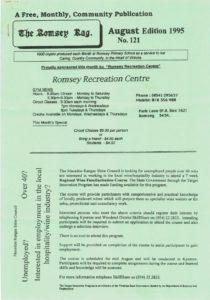 thumbnail of Romsey Rag No 121 August 1995