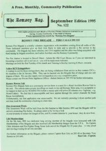 thumbnail of Romsey Rag No 122 September 1995
