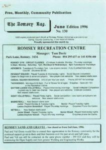 thumbnail of Romsey Rag No 130 June 1996