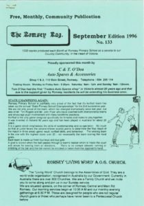 thumbnail of Romsey Rag No 133 September 1996