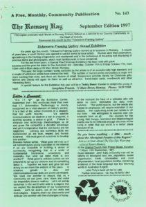 thumbnail of Romsey Rag No 143 September 1997