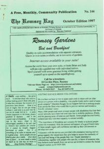 thumbnail of Romsey Rag No 144 October 1997