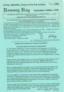 thumbnail of Romsey Rag No 154 September 1998