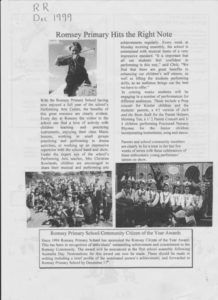 thumbnail of Romsey Rag No 166 December 1999