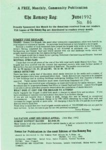 thumbnail of Romsey Rag No 86 June 1992
