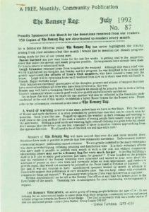 thumbnail of Romsey Rag No 87 July 1992