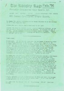 thumbnail of Romsey Rag No 91 February 1991