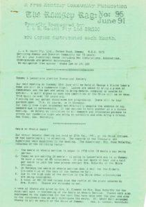 thumbnail of Romsey Rag No 95 June 1991