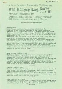 thumbnail of Romsey Rag No 96 July 1991